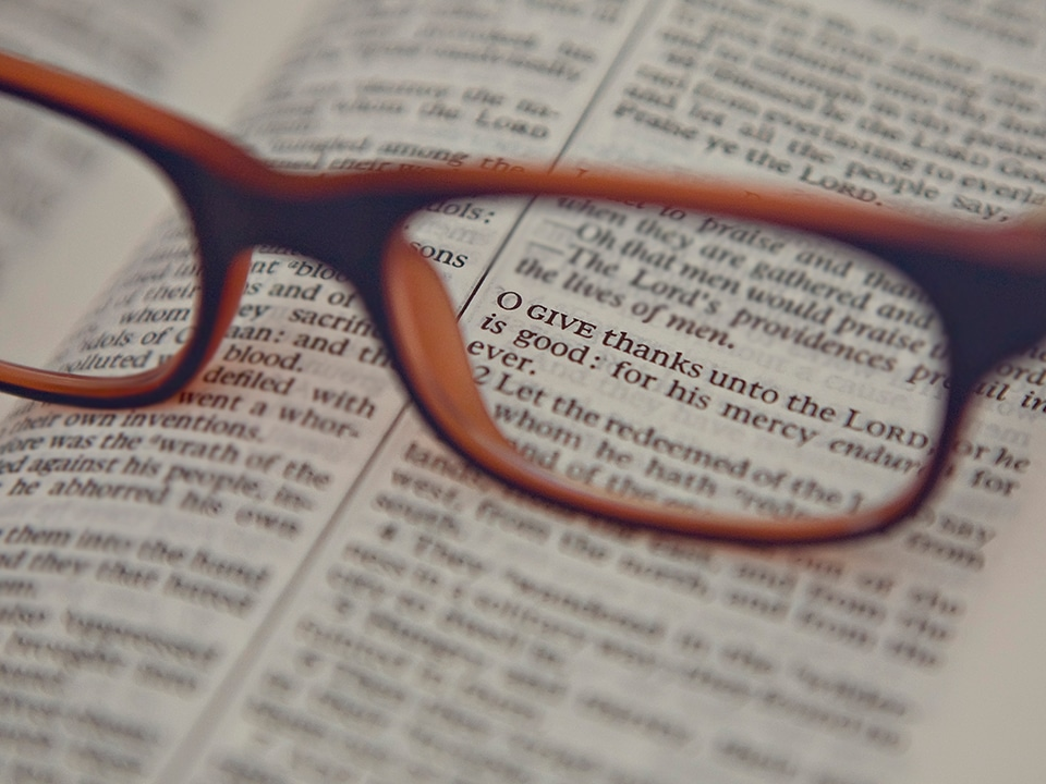 lighthouse christian fellowship - explore scripture - image of glasses on bible